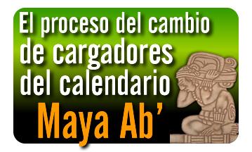 El proceso de cambio de cargadores del calendario Maya Ab'