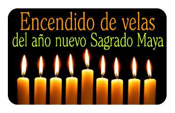 Encendido de velas del año nuevo Sagrado Maya